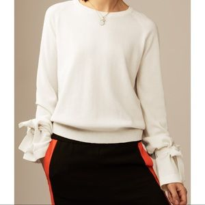 MAJE Wool Cashmere Mort Tie-Cuff Sweater